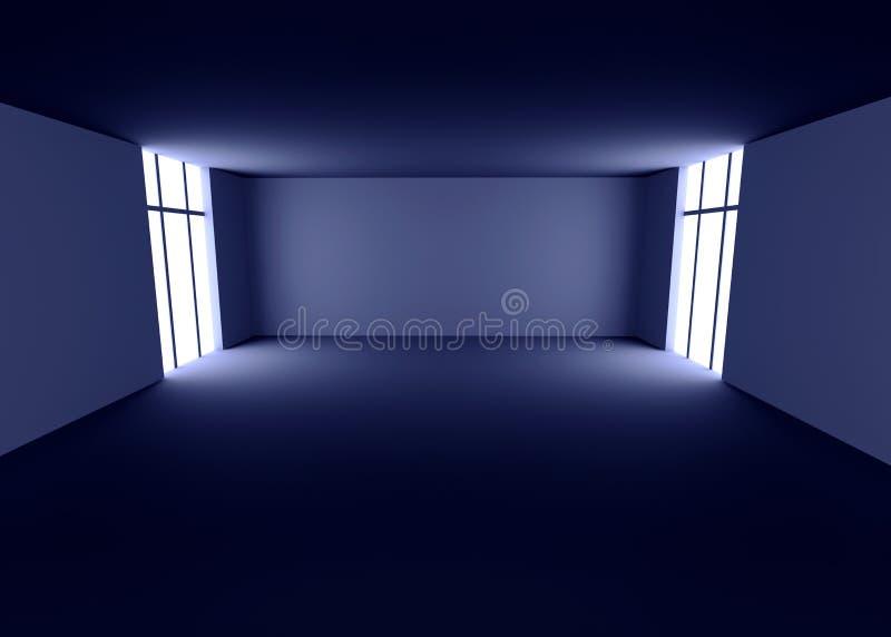 ciemny pokój royalty ilustracja