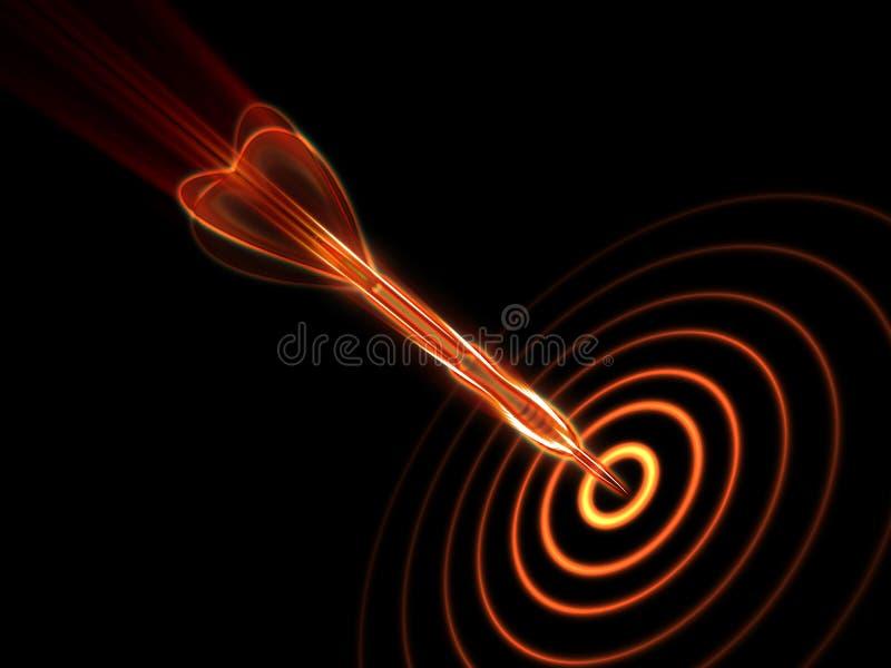 ciemny strzałki ogienia cel ilustracja wektor