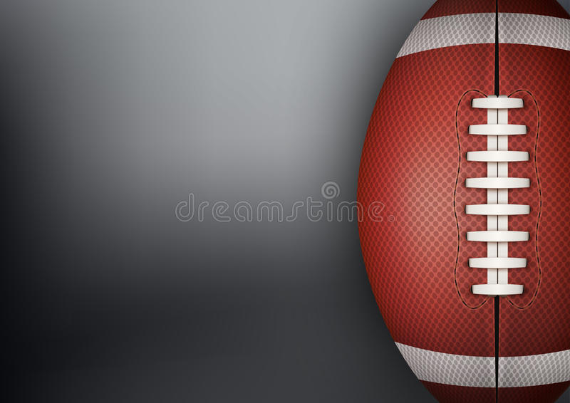 Ciemny tło futbol amerykański piłka wektor ilustracja wektor