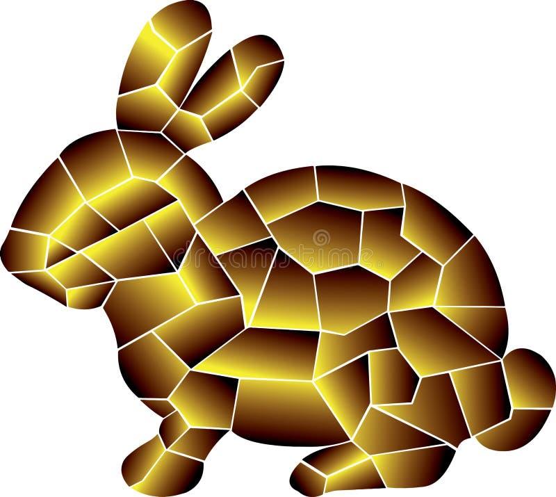 Ciemny Złocisty królik Dziwaczni kolory ilustracji