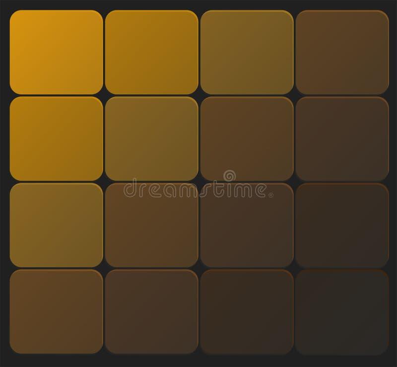 Ciemny złoty tło kwadratowi bloki ilustracji