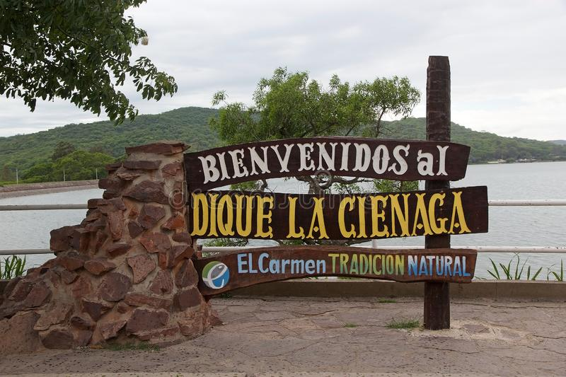 The Cienaga Dam along the National Route 9, Argentina stock image