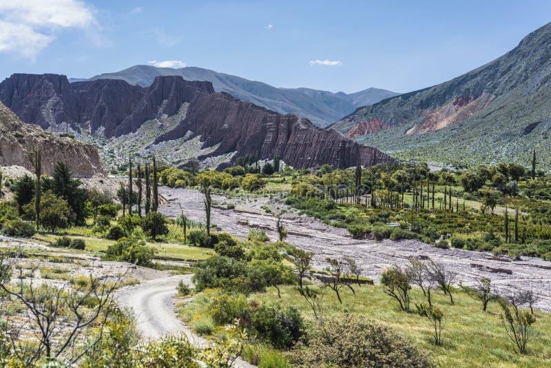 Cienaga Quebrada de Humahuaca, Jujuy, Argentina royaltyfri foto