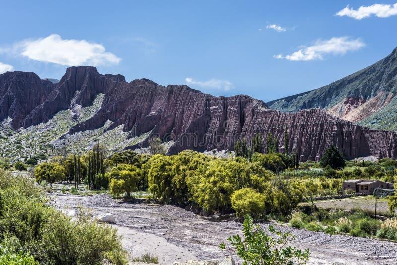 Cienaga Quebrada de Humahuaca, Jujuy, Argentina fotografering för bildbyråer