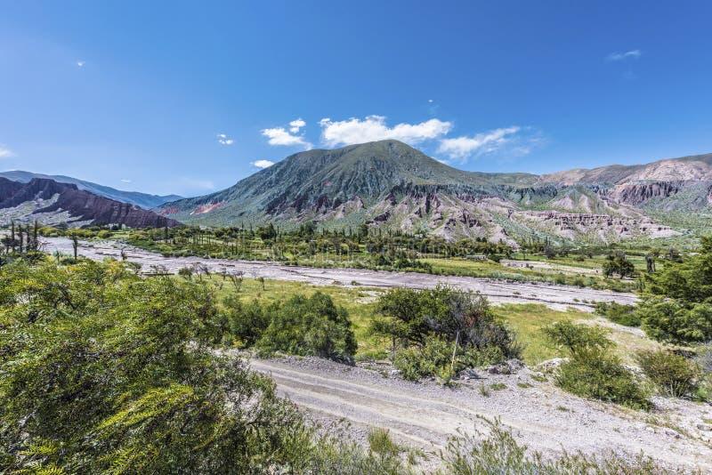 Cienaga, Quebrada DE Humahuaca, Jujuy, Argentinië. stock foto