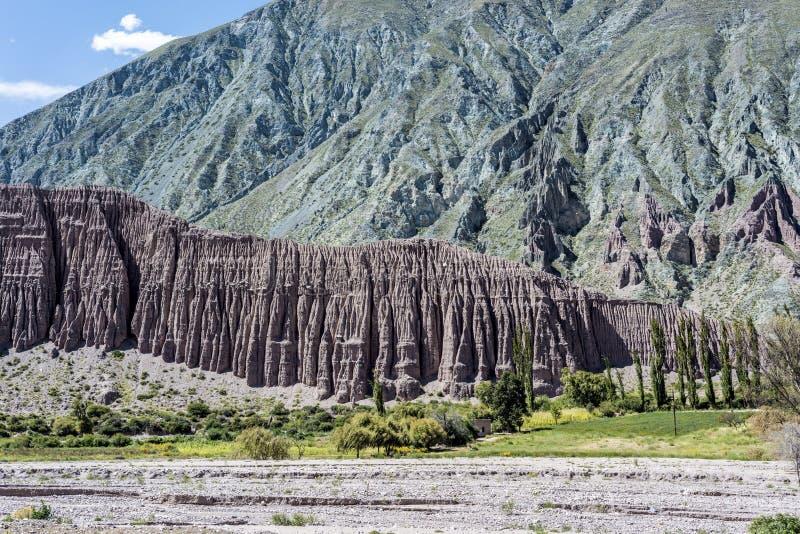 Cienaga, Quebrada DE Humahuaca, Jujuy, Argentinië. stock afbeelding
