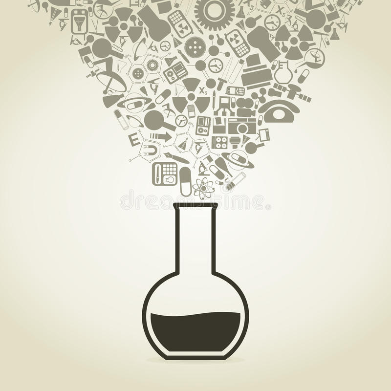 Ciencia 5 ilustración del vector