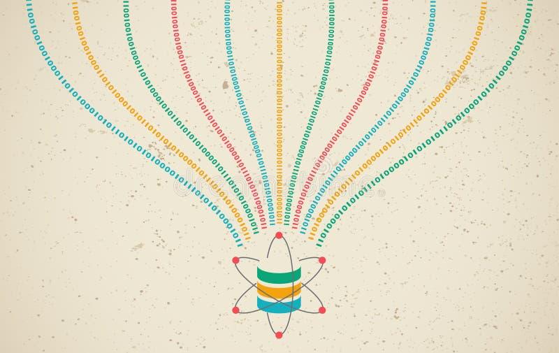 Ciencia de los datos y concepto de la comunicación stock de ilustración