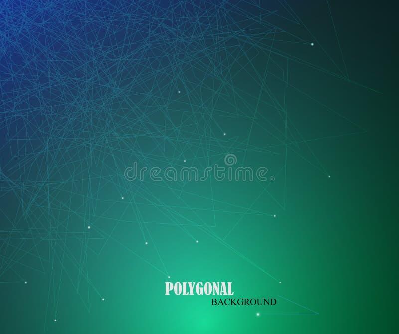 Ciencia del asunto o fondo abstracta de la tecnología libre illustration