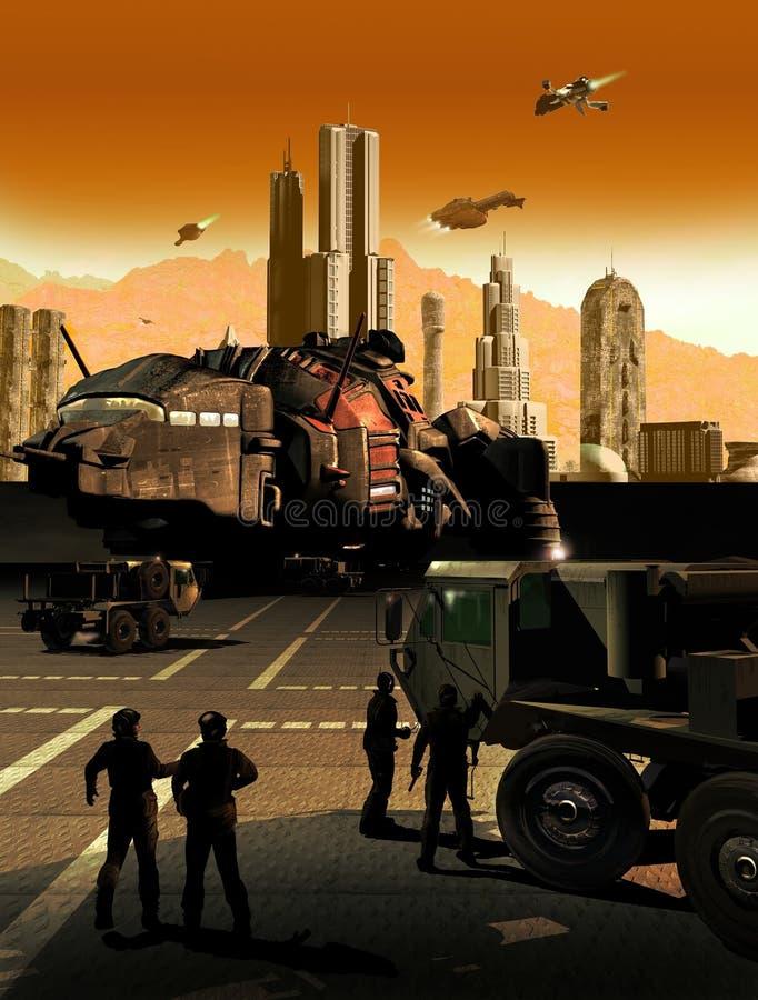 Ciencia ficción ilustración del vector