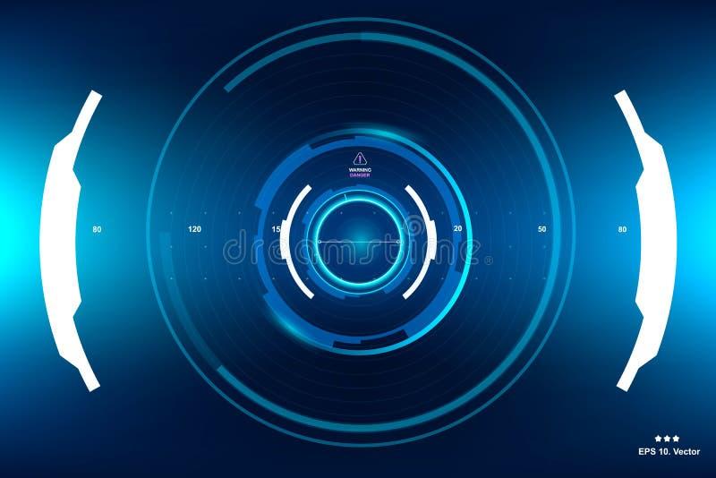 Ciencia ficción HUD Dashboard Display futurista Pantalla de la tecnología de la realidad de Vitrual ilustración del vector