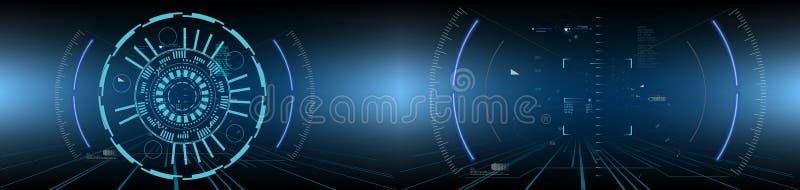 Ciencia ficción HUD Dashboard Display futurista Pantalla de la tecnología de la realidad de Vitrual stock de ilustración