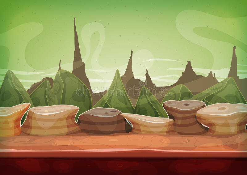 Ciencia ficción Martian Background de la fantasía de la historieta libre illustration