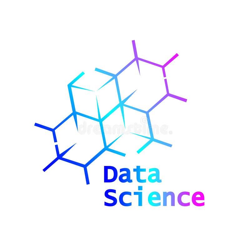 Ciencia Logo Icon Design Vector de los datos ilustración del vector