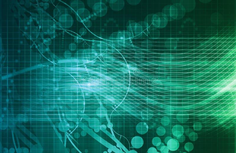 Ciencia médica de la DNA ilustración del vector