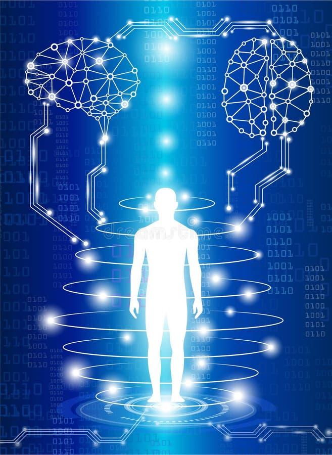 Ciencia médica de la tecnología stock de ilustración