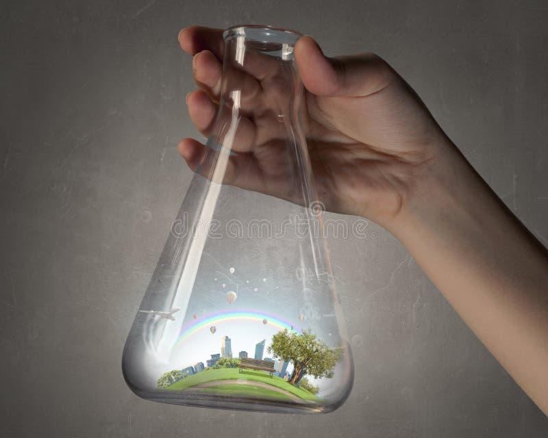 Ciencia para la vida sana verde foto de archivo