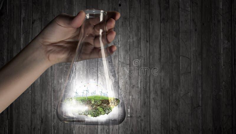 Ciencia para la vida sana verde fotos de archivo