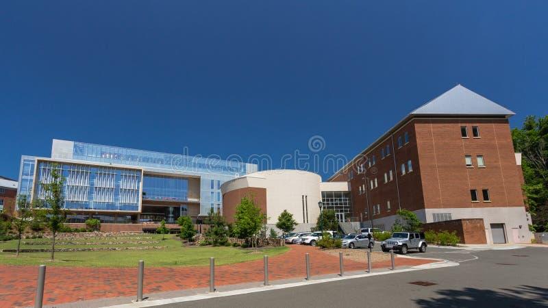 Ciencias del genoma que construyen en la colina de la UNC-capilla imágenes de archivo libres de regalías