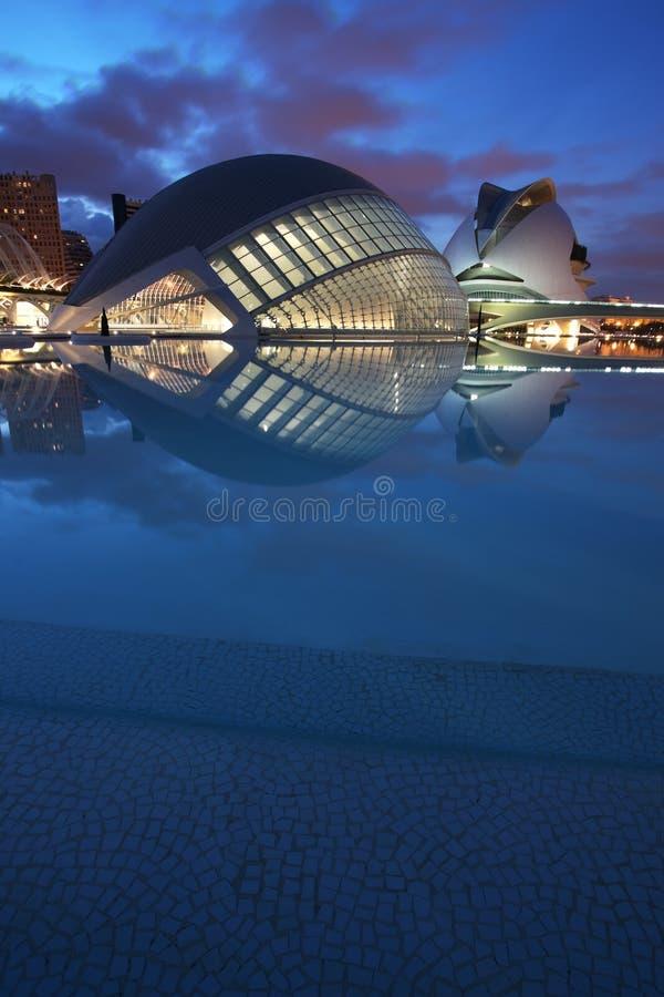 Ciencias di las di Ciudad de las artes y. La Valencia-Spagna immagini stock