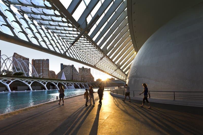 Ciencias dos las de Ciudad de las artes y. Valença-Spain foto de stock