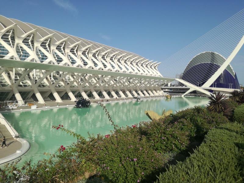 Ciencias Valencia för stadsartes y royaltyfri bild