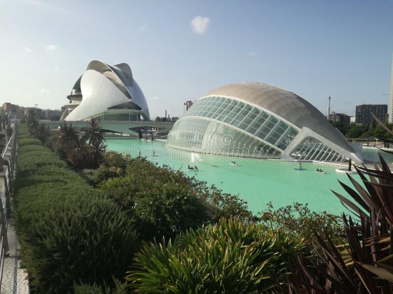 Ciencias Valencia för stadsartes y royaltyfri fotografi