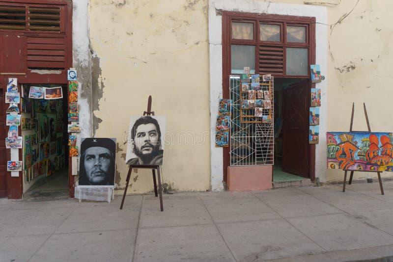 """Cienfuegos, †de Cuba """"1º de janeiro de 2017: arte na rua foto de stock"""