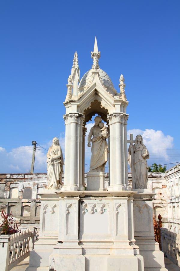 Cienfuegos cemetery, Cuba royalty free stock photography