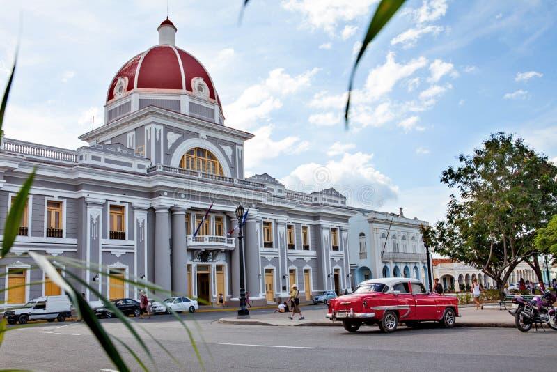 Cienfuegos, Cuba - December 17, 2016: Stadhuis stock fotografie