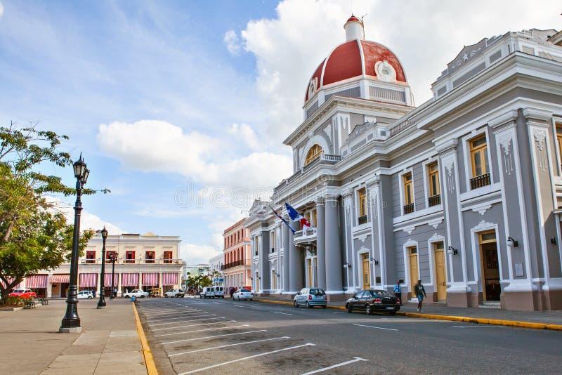Cienfuegos, Cuba - December 17, 2016: Stadhuis royalty-vrije stock afbeeldingen