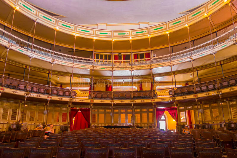 CIENFUEGOS, CUBA - SEPTEMBER 12, 2015: Theater royalty-vrije stock foto's