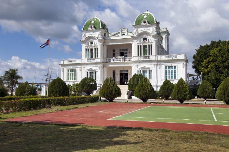 Cienfuegos jachtu klubu budynek Kuba zdjęcie stock