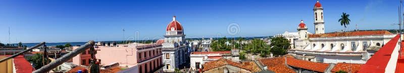 Cienfuegos miasteczko od dachowego wierzchołka fotografia royalty free