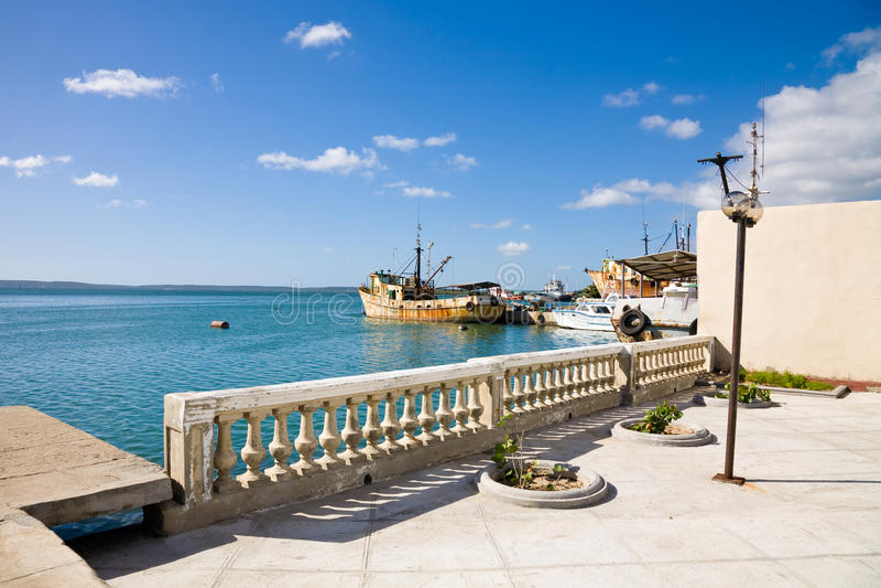 Cienfuegoshaven, Cuba stock fotografie