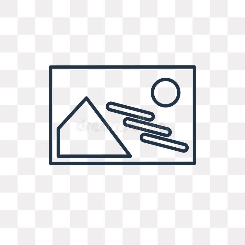 Cieni wektorową ikonę odizolowywającą na przejrzystym tle, liniowy Sh royalty ilustracja