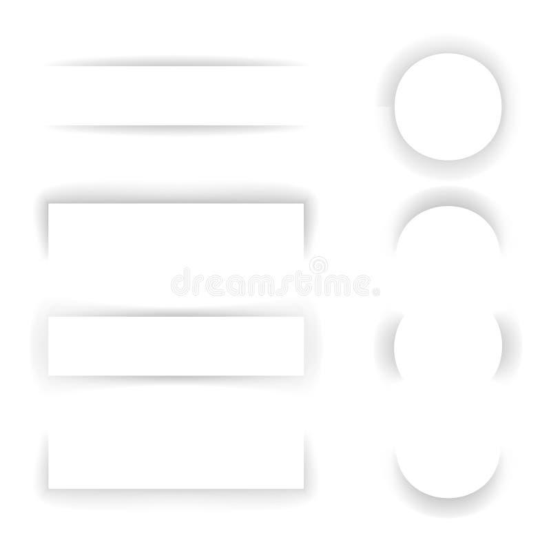 Cienia szablonu Papierowego skutka tła sieci sztandaru Mockup projekta wektoru Ustalona Przejrzysta ilustracja royalty ilustracja