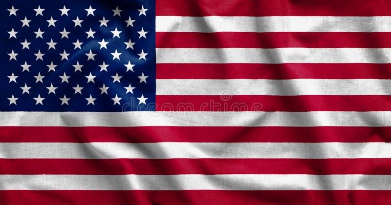 Cienie na flagi amerykańskiej tle fotografia royalty free