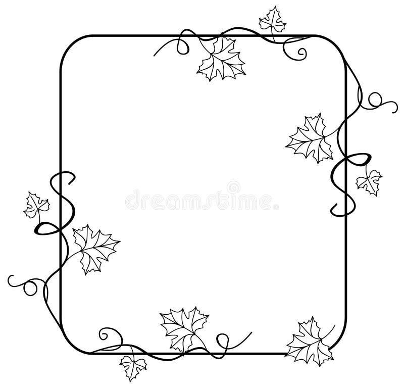 Download Cienieje ramę z liśćmi ilustracja wektor. Ilustracja złożonej z wyznaczający - 42525234