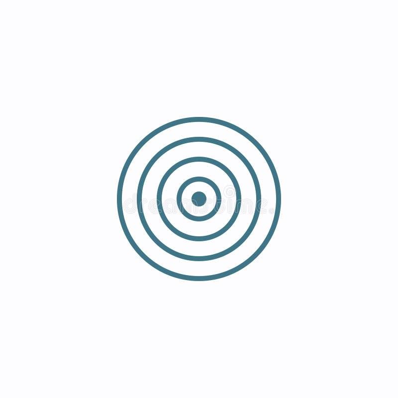 Cienieje za kreskowej płaskiej cel ikonie Geometryczny p?aski kszta?ta element Abstrakta EPS 10 ilustracja Poj?cie wektoru znak ilustracja wektor