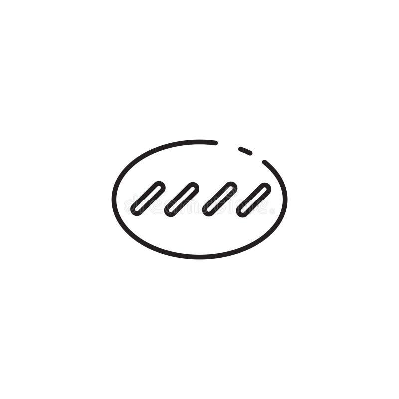 Cienka kreskowa serowa kij ikona ilustracji