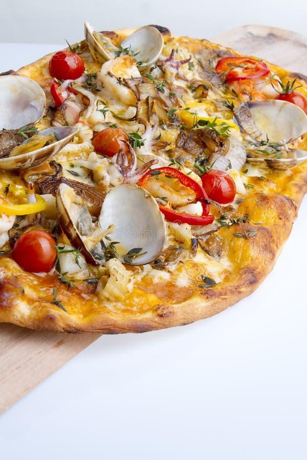 cienka skorupy pizza obraz royalty free