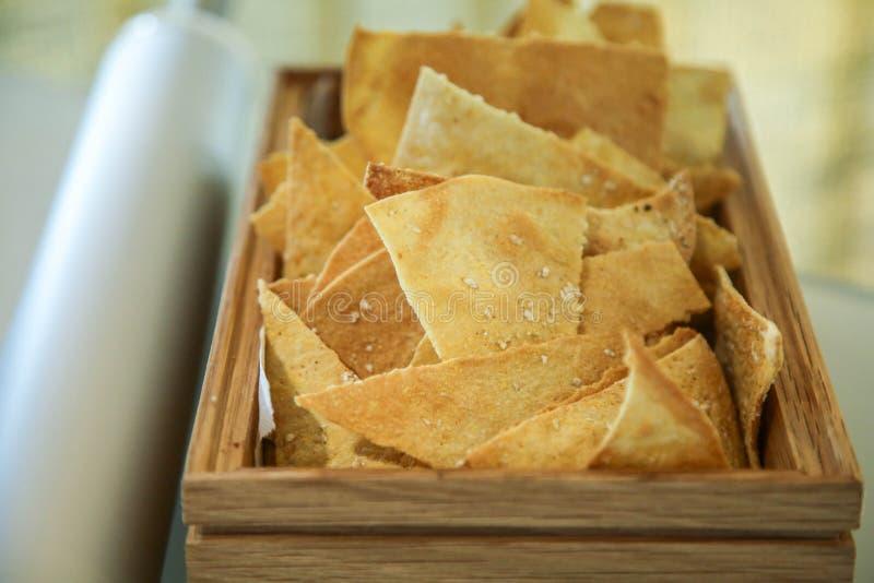 Cienki chleb dla śniadania zdjęcie royalty free