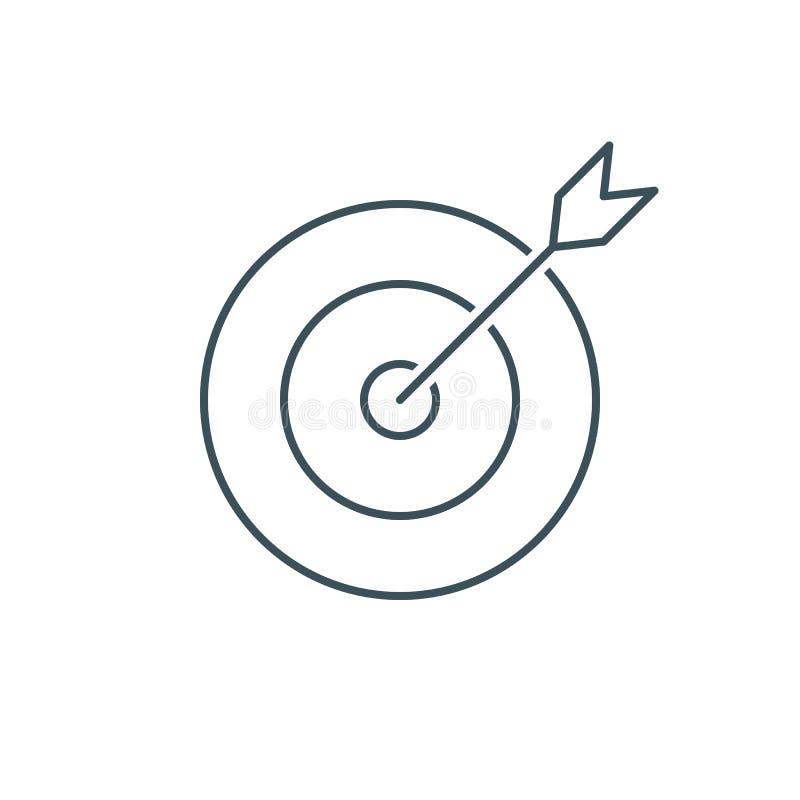 Cienki kreskowy cel, przewagi ikona ilustracja wektor