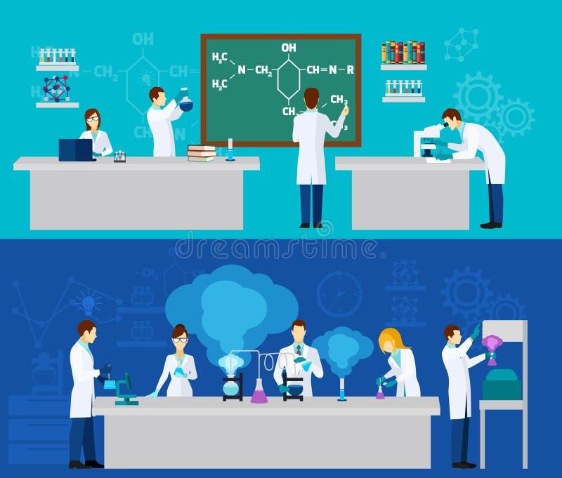 Científico Banner Set stock de ilustración