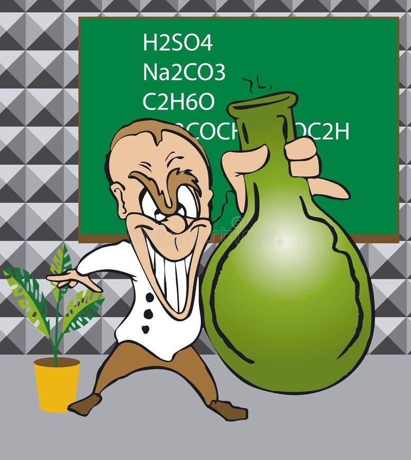 Científico de Toonimal ilustración del vector