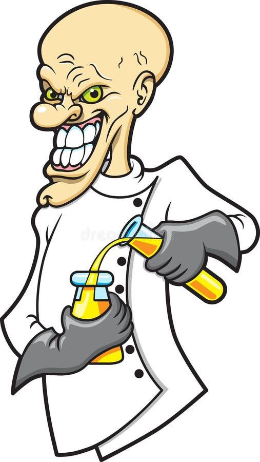 Científico enojado libre illustration