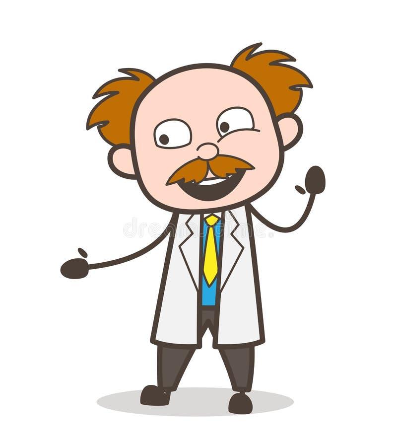 Científico Laughing Vector Illustration de la historieta stock de ilustración