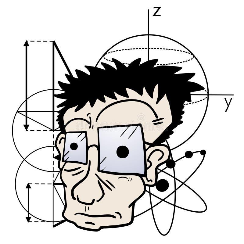 Científico loco stock de ilustración