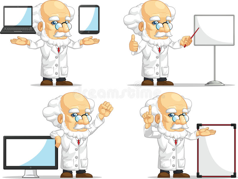 Científico o profesor Customizable Mascot 14 libre illustration
